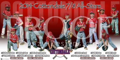 Print - 2014 Cottondale Dixie Youth 7-8 All-Stars Baseball Team