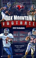 Schedule - 2016 Saunders High School Football Posters