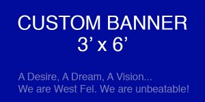 Banner - West Feliciana Motivational Football Banner