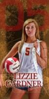 Banner - Lafayette Senior Volleyball Player
