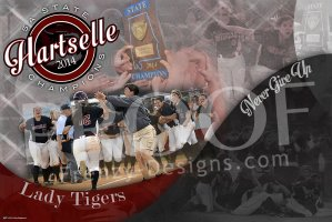 Print - Hartselle Tigers State Softball Championship Collage