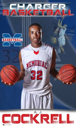 Banner - Memorial High School Basketball Player