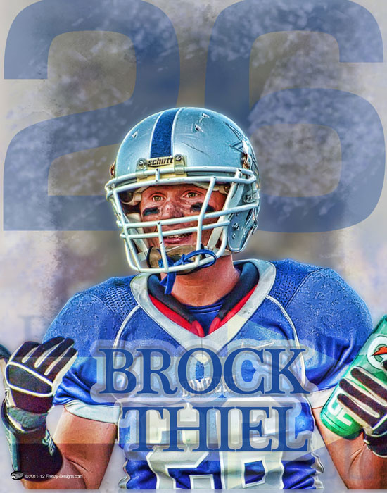 Personalized Football Poster - One Way Out - Brock Thiel