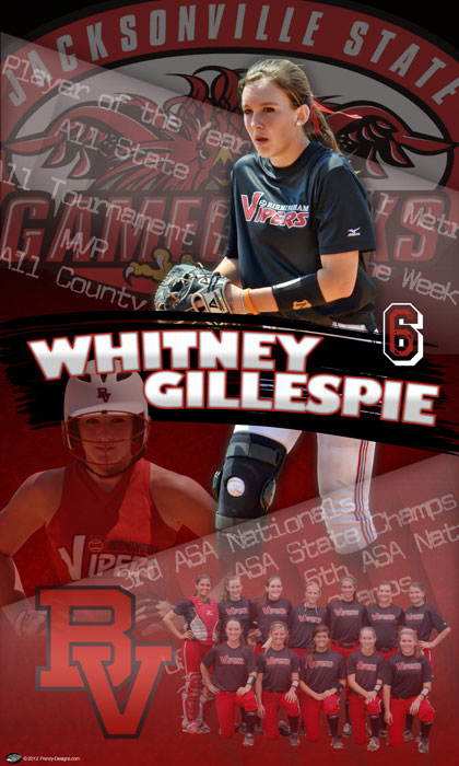 Personalized Softball Banner - Whitney Gillespie
