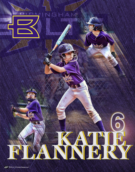 Personalized softball poster archives page 2 of 3 custom sports posters personalized team for Softball poster ideas