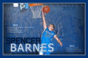 Personalized Basketball Poster &#8211; Spencer Barnes