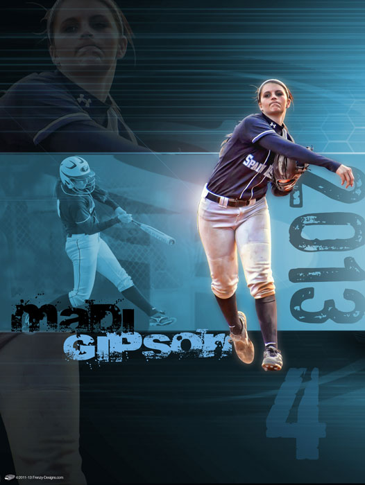 Personalized Softball Poster - Madi Gipson - Spain Park
