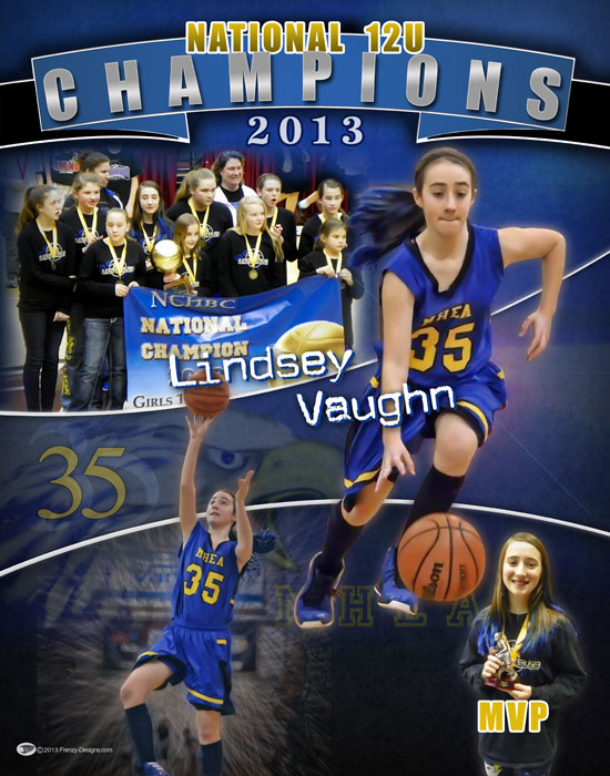 Personalized Basketball Poster Lindsey Vaughn