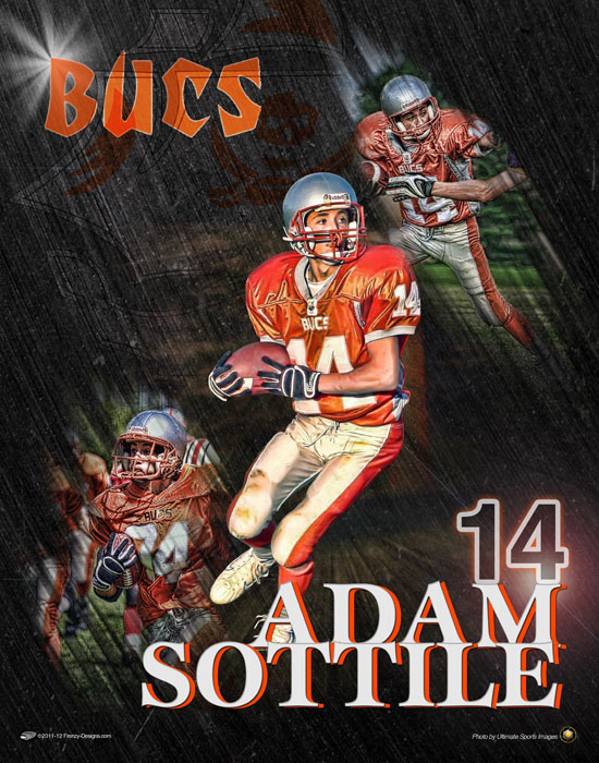 Custom football poster player gifts for Sports poster ideas