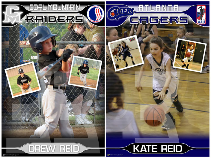personalized sports designs player posters custom sports posters
