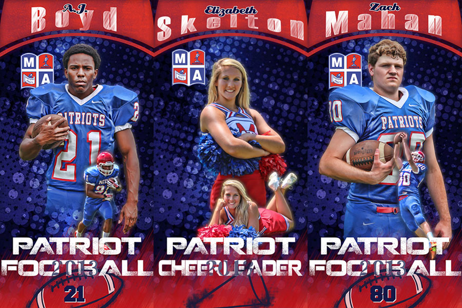 Custom Football Banners Cheerleading Banners Frenzy Designs