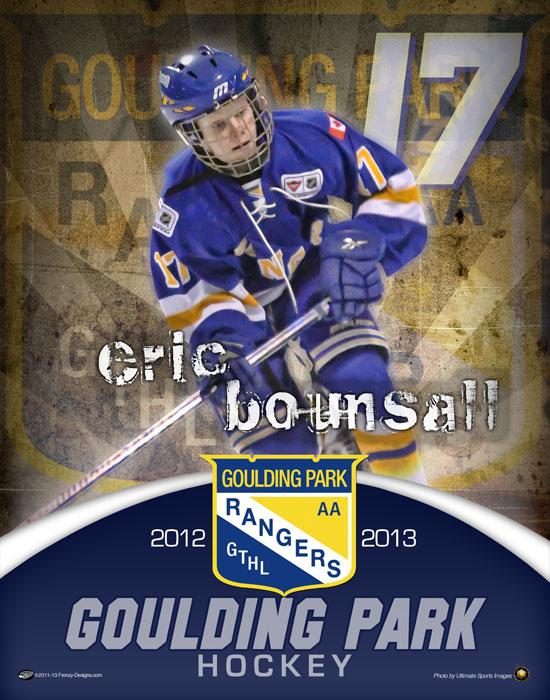 Custom Hockey Poster Goulding Park Rangers
