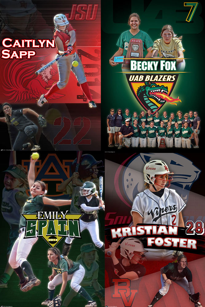 Custom Softball Banners - Senior Signing