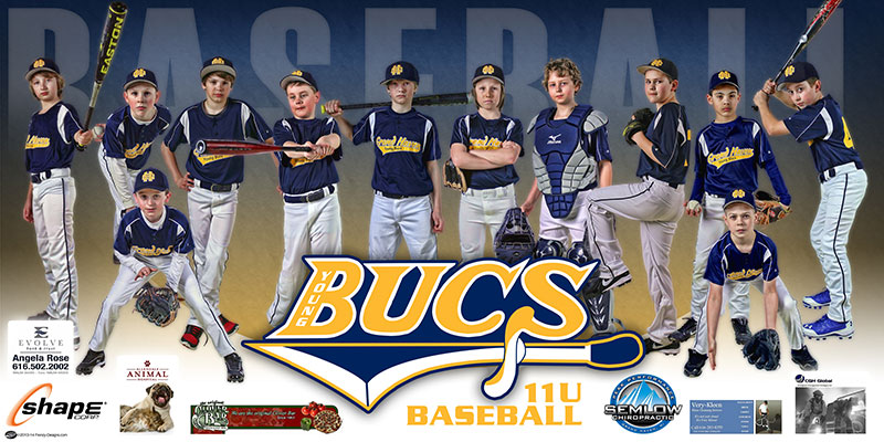 Custom Baseball Banner Young Bucs