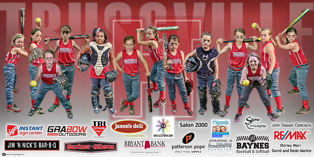 Custom All Star Team Banner Trussville 8u Stars Softball