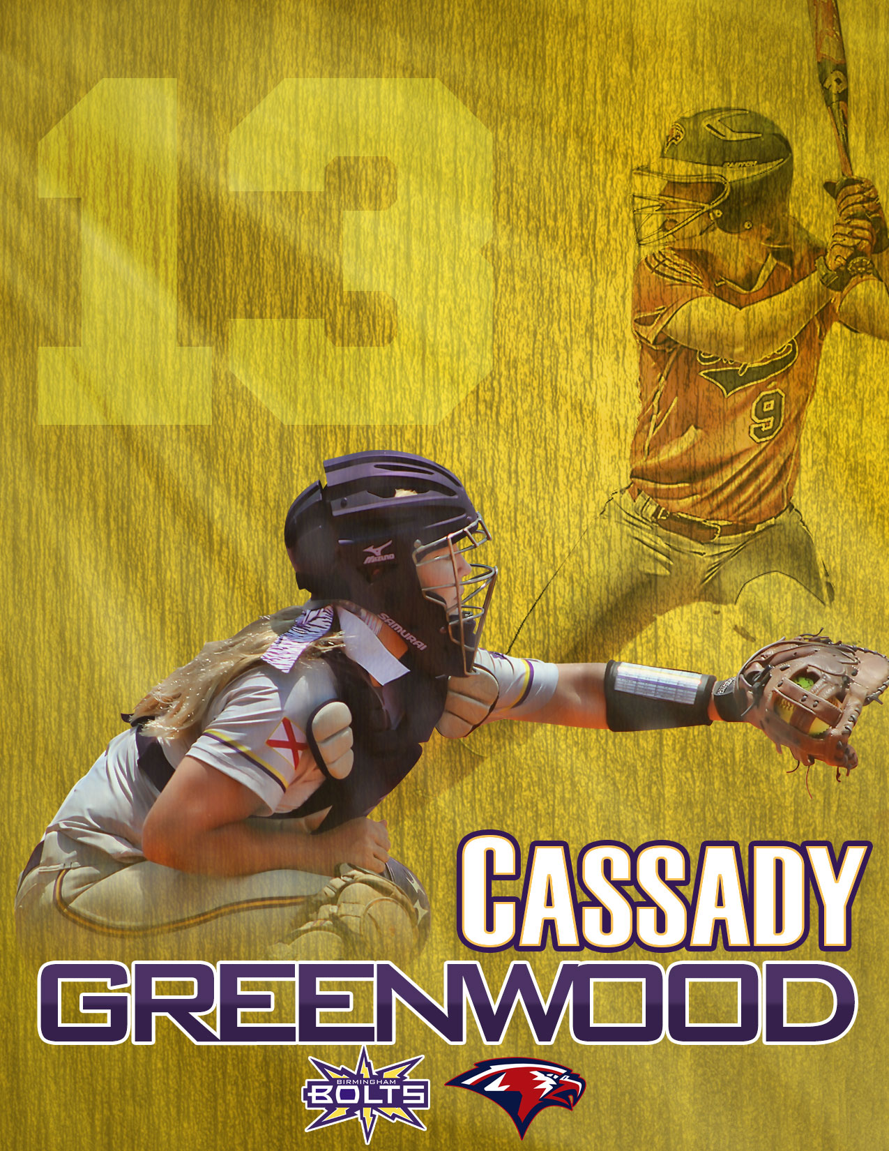 Custom Softball Poster  - Cassady