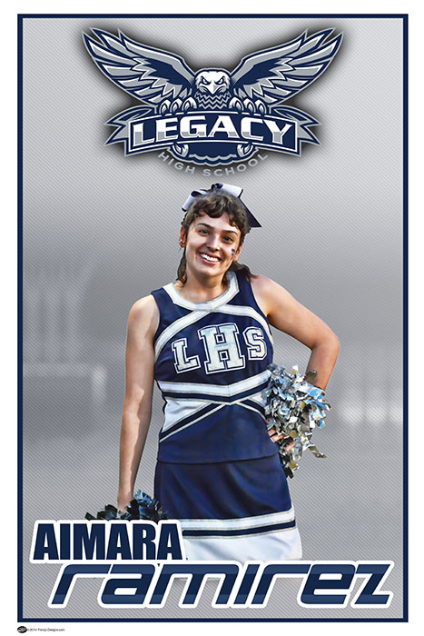 Custom Senior Cheerleading Banner