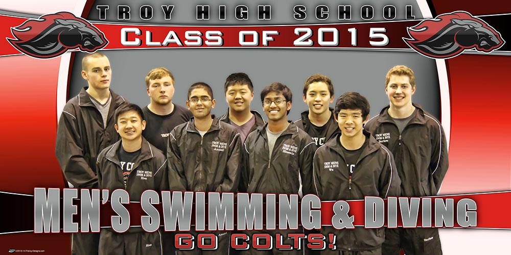 Custom Swim and Dive Team Banner