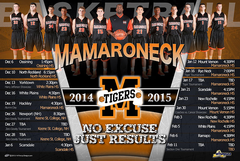 Custom Team Schedule -Mamaroneck High School