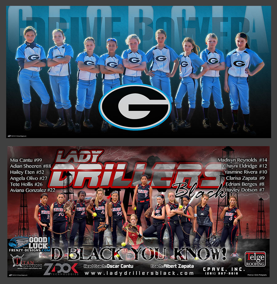 Custom Team Softball Banner