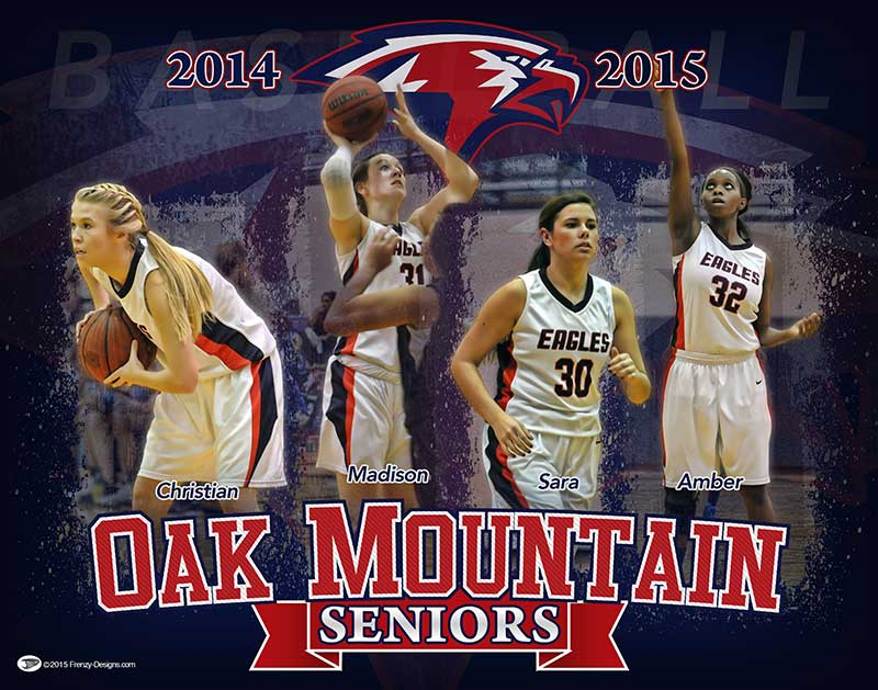 Custom Senior Basketball Gifts - Oak Mountain High School