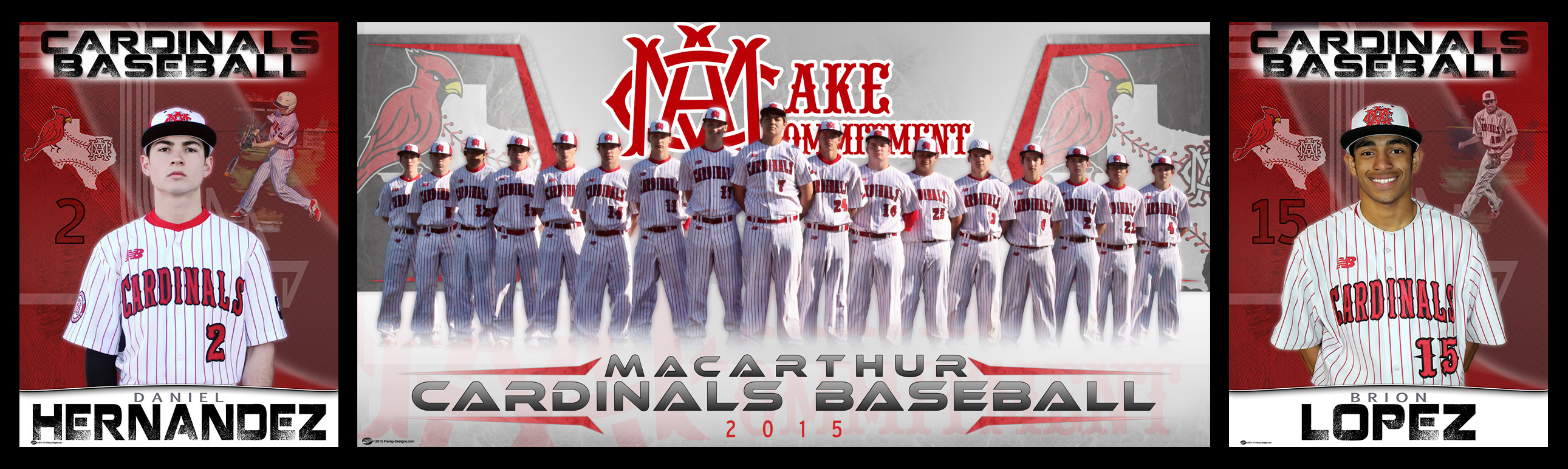 Custom Baseball Banner - Irving MacArthur High School