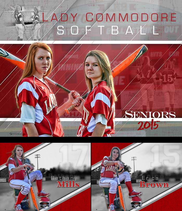 Custom Senior Softball Banners - Lafayette High School