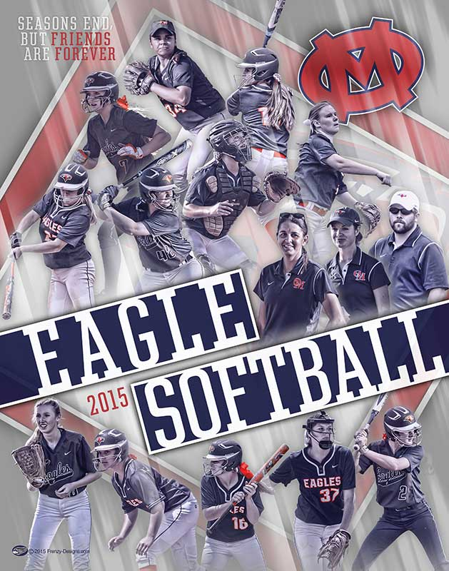 Custom Softball Collage