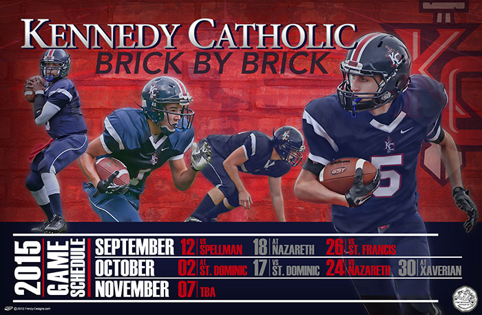 Custom Football Schedule Poster – Polytechnic School