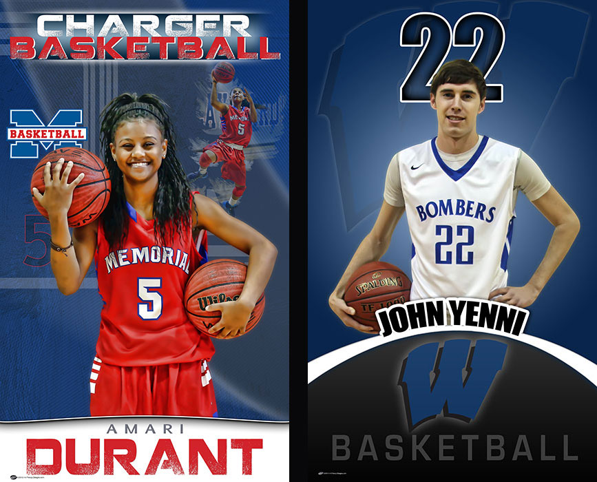 Senior Basketball Banners