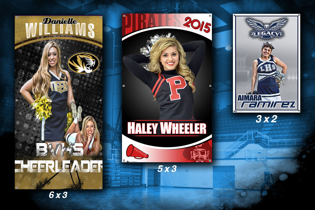Senior Cheerleading Banners