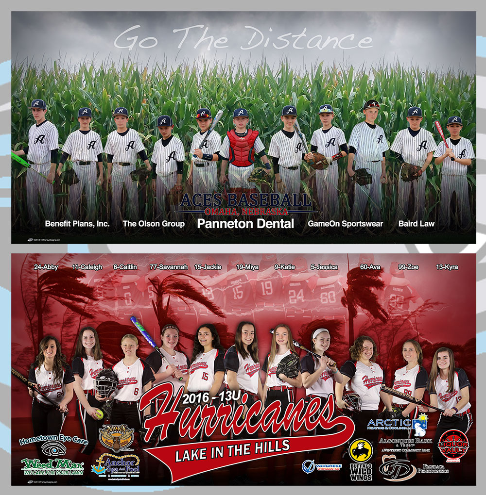 Custom Team Baseball & Softball Banners