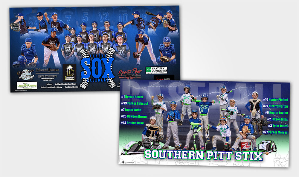 Custom Baseball Team Banner - Summer
