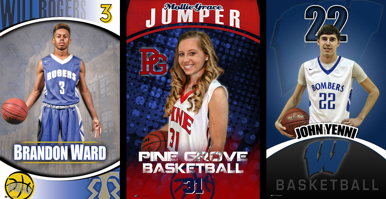 Custom Senior Basketball Banners