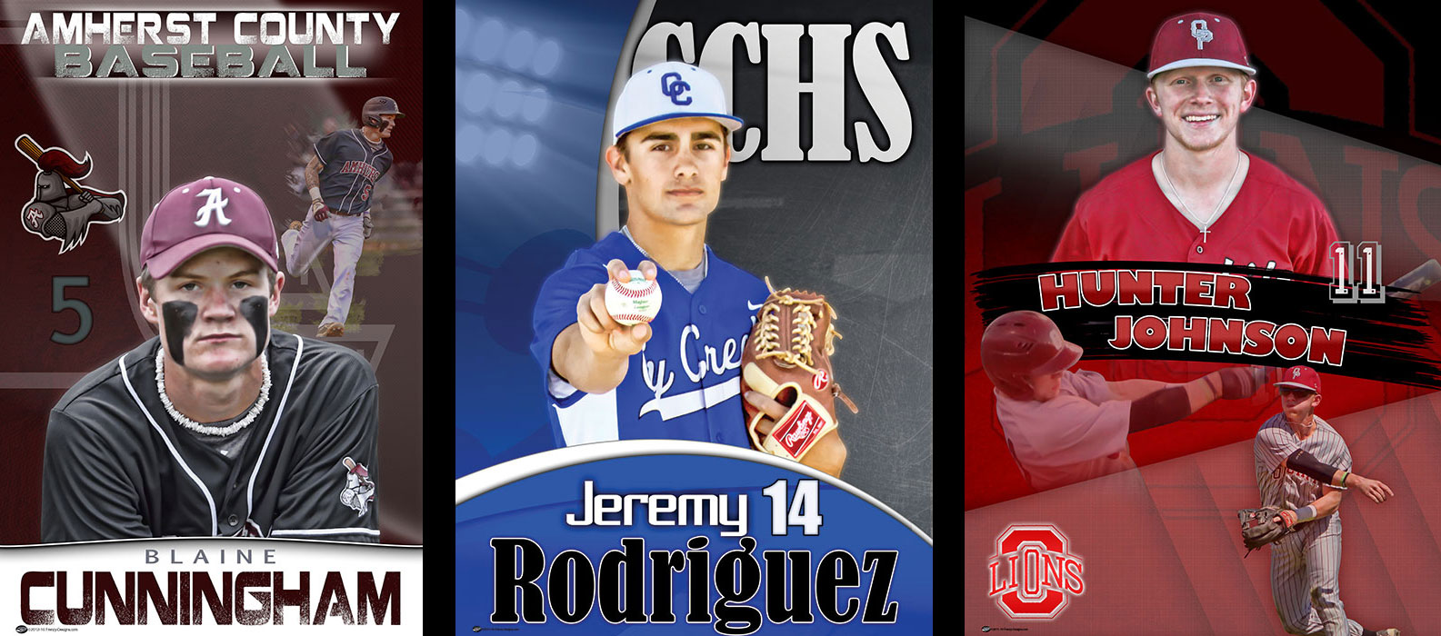 Custom Senior Baseball Banners