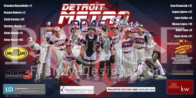 Digital - Baseball - Detroit Metro Stars Baseball Team - Blue