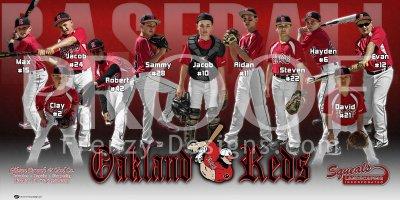Print - Oakland Reds Baseball Team