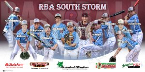 Banner - RBA South Storm 12U Baseball Team - Smaller