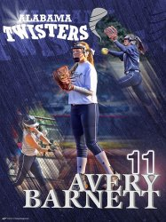 Poster - Twisters Softball - Avery Barnett