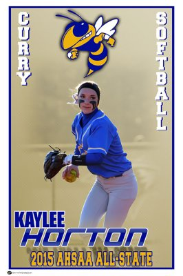 Banner - Softball All-State Curry High School - Kaylee Horton