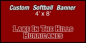 Banner - Lake in the Hills Hurricanes Softball Team