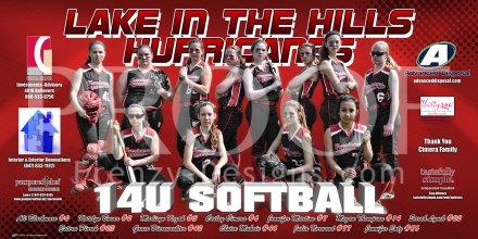 Print - 14U Lake In The Hills Hurricanes Softball Team