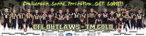 Print - CFL Outlaws - TM Gold Football Team