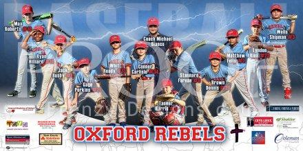 Print - Oxford Rebels Baseball Team