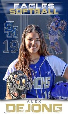 Banner - 2021 Santa Margarita Catholic Senior Softball Players