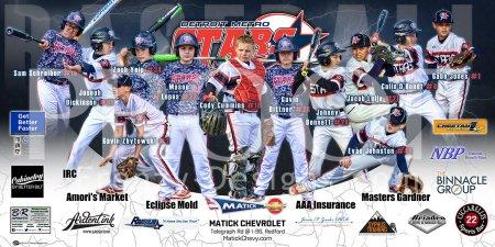 Print - 2017 Detroit Metro Stars Baseball Team