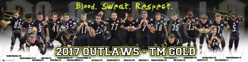Print - 2017 Outlaws - TM Gold Football Team