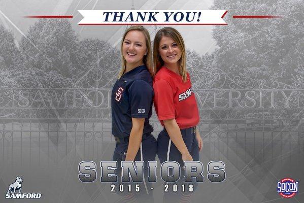 Banner - 2018 Custom Senior Softball Banner - Samford University