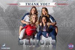 Banner - 2019 Custom Senior Softball Banner - Samford University
