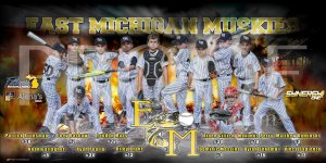 Banner - 2019 East Michigan Muskies Baseball Team Sponsors